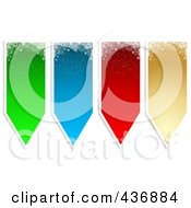 Royalty Free RF Clipart Illustration Of A Digital Collage Of Colorful Snowflake Banner Tags