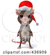 3d Christmas Mouse Facing Front