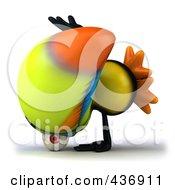 Royalty Free RF Clipart Illustration Of A 3d Toucan Bird Doing A Cartwheel