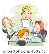 Royalty Free RF Clipart Illustration Of Employees Sleeping During A Board Meeting