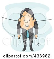 Royalty Free RF Clipart Illustration Of A Wet Businessman Hung Out To Dry