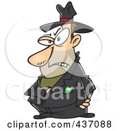 Royalty Free RF Clipart Illustration Of A Mean Villain Reaching Into His Jacket