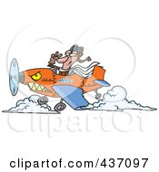 Royalty Free RF Clipart Illustration Of A Pilot Flying An Ace Plane