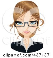 Royalty Free RF Clipart Illustration Of A Dirty Blond Female Secretary by Melisende Vector #COLLC437137-0068