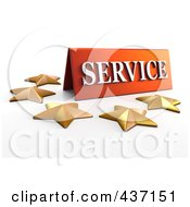 3d Service Plaque With Five Golden Stars 2