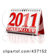 Royalty Free RF Clipart Illustration Of A 3d 2011 Desktop Calendar