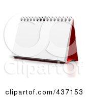 3d Blank Upright Desktop Calendar