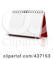 Royalty Free RF Clipart Illustration Of A 3d Blank Upright Desktop Calendar