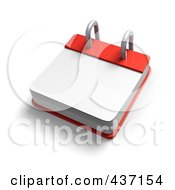 Royalty Free RF Clipart Illustration Of A 3d Blank Desktop Calendar