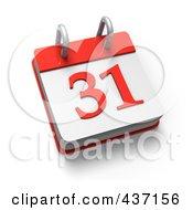 Royalty Free RF Clipart Illustration Of A 3d 31 Desktop Calendar