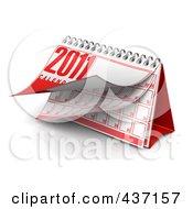 Royalty Free RF Clipart Illustration Of A 3d Spiral 2011 Desktop Calendar