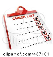 3d Complete Checklist On A Clipboard 1