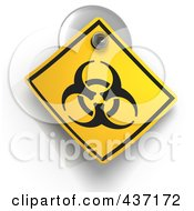 3d Biohazard Warning Sign On A Suction Cup