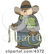 Cowboy Holding A Lasso Rope