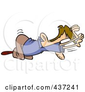 Royalty Free RF Clipart Illustration Of A An Unworthy Cartoon Businessman Bowing