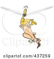 Unbalanced Tight Rope Walker Stuck Upside Down