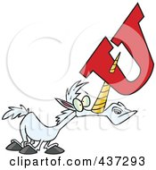 Royalty Free RF Clipart Illustration Of A Unicorn With A Letter U On His Horn by toonaday