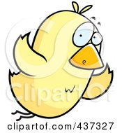 Royalty Free RF Clipart Illustration Of A Yellow Bird Flying
