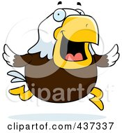 Royalty Free RF Clipart Illustration Of A Bald Eagle Running