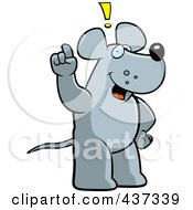 Royalty Free RF Clipart Illustration Of A Rat Exclaiming by Cory Thoman