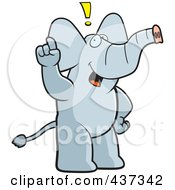 Royalty Free RF Clipart Illustration Of An Elephant Exclaiming by Cory Thoman