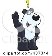 Royalty Free RF Clipart Illustration Of A Panda Exclaiming by Cory Thoman