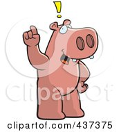 Royalty Free RF Clipart Illustration Of A Hippo Exclaiming by Cory Thoman