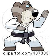 Royalty Free RF Clipart Illustration Of A Karate Koala With A Red Belt