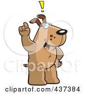 Royalty Free RF Clipart Illustration Of A Dog Exclaiming by Cory Thoman