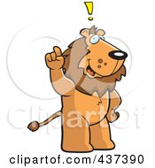 Royalty Free RF Clipart Illustration Of A Lion Exclaiming by Cory Thoman