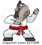Karate Ape With A Red Belt by Cory Thoman