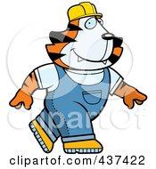 Builder Tiger Walking by Cory Thoman