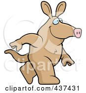 Royalty Free RF Clipart Illustration Of A Walking Aardvark by Cory Thoman