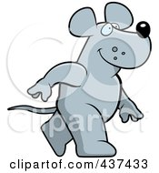 Royalty Free RF Clipart Illustration Of A Walking Rat by Cory Thoman