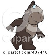 Royalty Free RF Clipart Illustration Of A Walking Ape by Cory Thoman