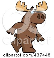Royalty Free RF Clipart Illustration Of A Walking Moose