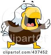 Royalty Free RF Clipart Illustration Of A Bald Eagle Walking