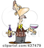 Cartoon Male Wine Taster
