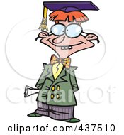 Royalty Free RF Clip Art Illustration Of A Cartoon Teen Boy Graduate Posing