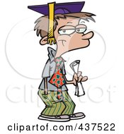 Royalty Free RF Clip Art Illustration Of A Cartoon Teen Boy Graduate