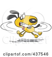 Royalty Free RF Clip Art Illustration Of A Cartoon Dog Chasing His Tail