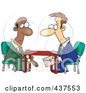 Royalty Free RF Clip Art Illustration Of Business Men Making A Deal Under The Table