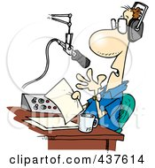 Royalty Free RF Clip Art Illustration Of A Cartoon Talk Radio Host
