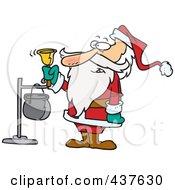 Santa Ringing A Charity Bell