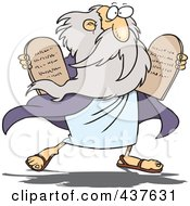 Royalty Free RF Clip Art Illustration Of A Moses Carrying Tablets by toonaday