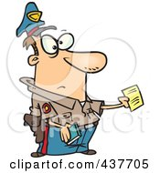 Royalty Free RF Clip Art Illustration Of A Cartoon Cop Issuing A Ticket