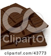 Clipart Illustration Of A Closeup Of 3d Stacked Breakable Chocolate Bars by Frank Boston