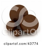Clipart Illustration Of 3d Chocolate Soccer Balls by Frank Boston