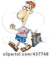 Royalty Free RF Clip Art Illustration Of A Cartoon Businessman Wearing A TGIF Shirt On Casual Work Day