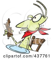 Royalty Free RF Clip Art Illustration Of A Cartoon Termite Dining On Wood by toonaday
